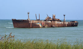 Rusty Shipwreck Royalty Free Stock Photography
