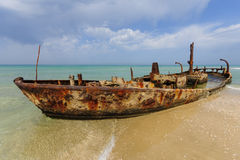 Rusty shipwreck Stock Photos