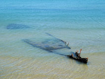 Rusty shipwreck Stock Photography