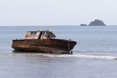 Rusty shipwreck in Portobelo Royalty Free Stock Image