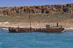 Rusty Shipwreck Royalty Free Stock Images