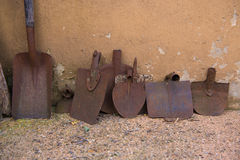 Rusty shovels Royalty Free Stock Photo