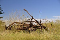 Rusty side delivery rake Royalty Free Stock Images