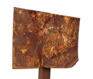 Rusty sign Stock Photo
