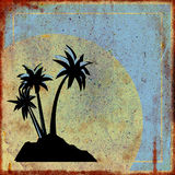 Rusty sign with palm trees Royalty Free Stock Images