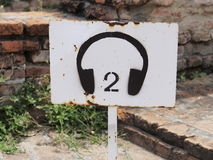 A Rusty Sign of Tourist Audio Stock Photos