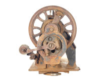 Rusty skeleton of an ancient sewing machine. Stock Photography