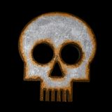 Rusty skull symbol Royalty Free Stock Image
