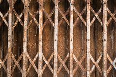 Rusty Sliding Steel Gate Royaltyfria Bilder