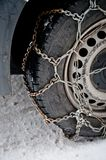Rusty snow chain Stock Image