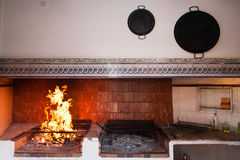 Rusty Spanish country kitchen. Stock Photography