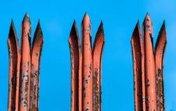Rusty Spikes Royaltyfria Bilder