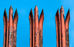 Rusty Spikes Royalty Free Stock Images