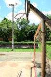 Rusty sports court Royalty Free Stock Photo