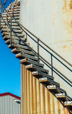 A rusty stair in the old harbor of Nuuk, Greenland Royalty Free Stock Photo