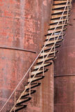 Rusty stairs. Rusty siairs at an old abandoned industrial complex Stock Photography