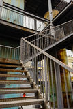 Rusty stairway in abandoned factory Stock Image