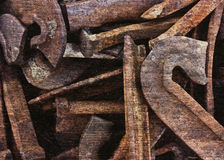 Rusty Stakes royalty free stock image