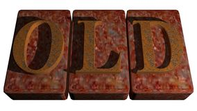 Rusty stamp OLD Stock Photo
