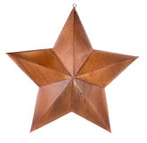 Rusty star isolated Stock Photos