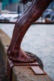 Rusty Statue Feet Fotografia Stock