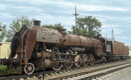 Rusty steam locomotive Stock Images