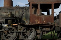 Rusty Steam Locomotive Royalty Free Stock Photography