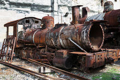 Rusty steam locomotive Royalty Free Stock Images