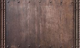 Steam punk rusty metal background. Rusty steam punk metal conctruction background royalty free stock photos