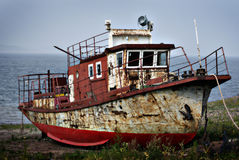 Rusty steamship Royalty Free Stock Image