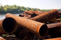 Rusty Steel Royaltyfria Foton