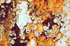 Rusty on steel background Royalty Free Stock Image
