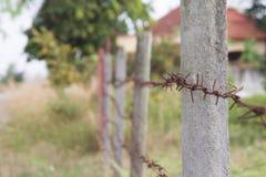 Rusty steel barb Stock Photography