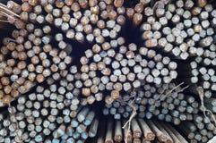Rusty steel bars. Royalty Free Stock Photos