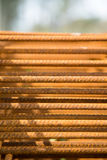 Rusty steel bars. Stock Images