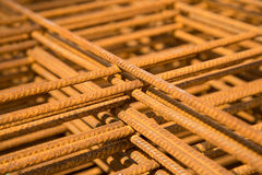Rusty steel bars. Royalty Free Stock Images