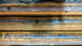 Rusty steel bars. Rusted steel bars can be used as background or wallpaper and for other possibilities or to modify to your taste Royalty Free Stock Images