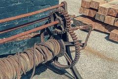 Rusty Steel Cable Fotografía de archivo libre de regalías