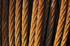 Rusty steel cables Stock Photography