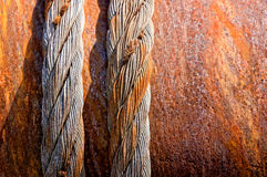 Rusty steel cables Stock Image