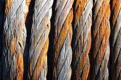 Rusty steel cables Royalty Free Stock Photo