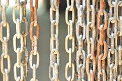 Rusty steel chain Stock Photos