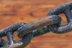 Rusty steel chain Royalty Free Stock Photos