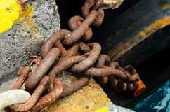 Rusty Steel Chain Detail Lizenzfreies Stockbild