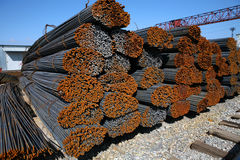 Rusty steel-concrete Royalty Free Stock Images