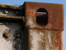 Rusty steel and construction Royalty Free Stock Images