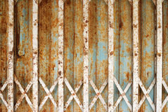 Rusty steel door Royalty Free Stock Image