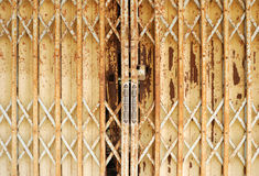 Rusty steel door Royalty Free Stock Photo