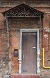 Rusty steel door. In an old building Royalty Free Stock Images