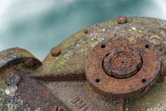 Rusty steel element, industrial background for commercial use.  stock photography